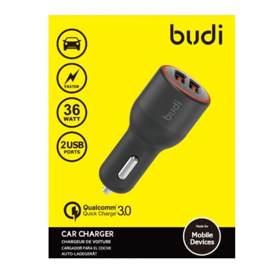 Автомобильное зарядное устройство Budi (M8J109Q) быстрая зарядка 2USB