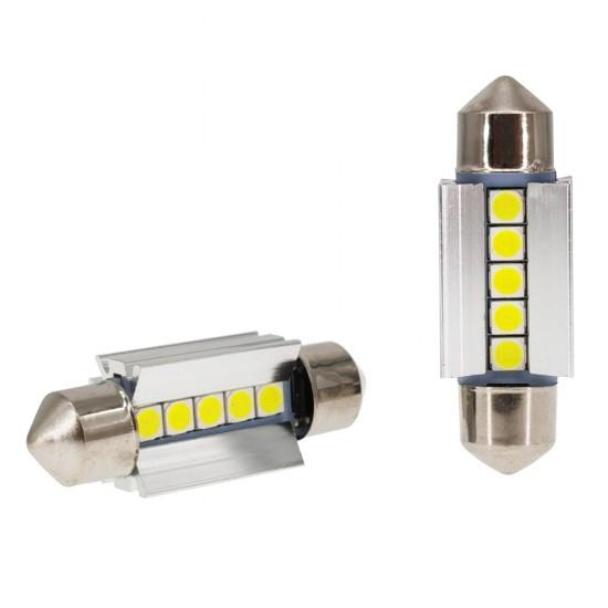 LED автолампы K7 STELLAR SV8,5 39 мм с обманкой в подсветку номера и салона CAN BUS (1 шт.)