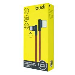Кабель Budi в оплете Двухсторонний USB-Type-C(M8J199T)