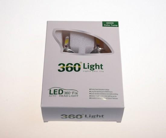 LED автолампа в головной свет A36 STELLAR цоколь Н1 (компл. 2 шт.)