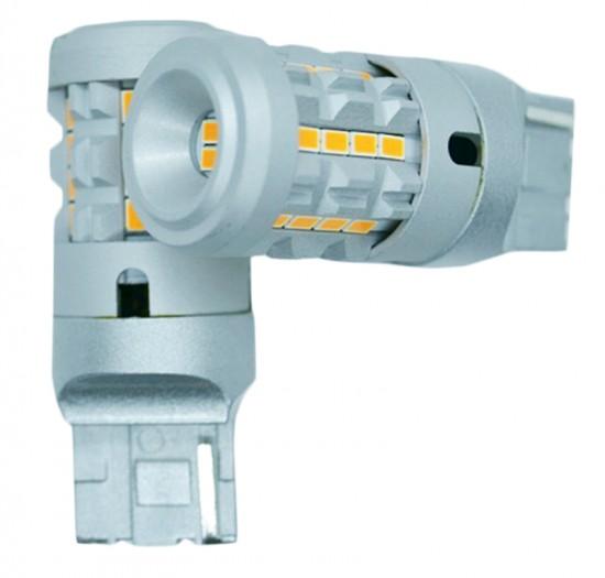 LED автолампа 7KG26 STELLAR цоколь T20/W21/7440 в повороты CAN BUS + резистор, желтый (1 шт.)