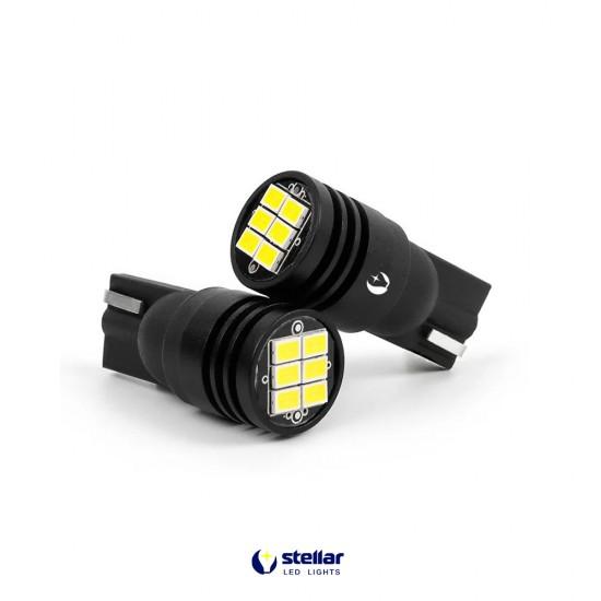 LED автолампа K6 STELLAR цоколь T10/W5W CAN BUS Белый (1 шт.)