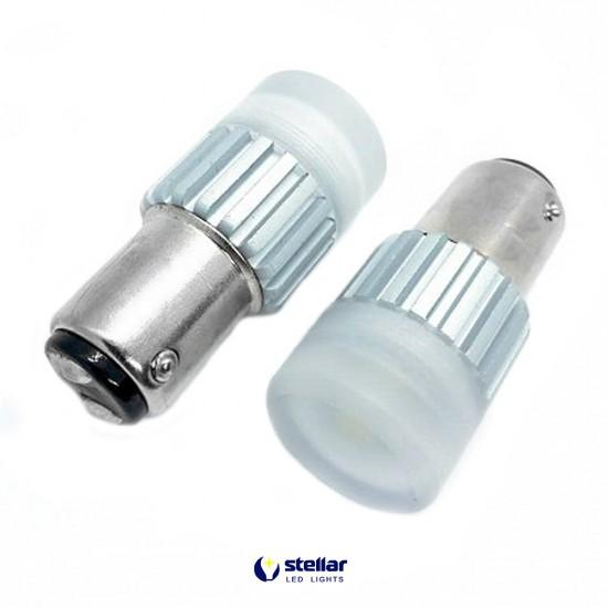 LED автолампа D60 STELLAR цоколь P21W/5W/1157 CAN BUS красный (1 шт.)