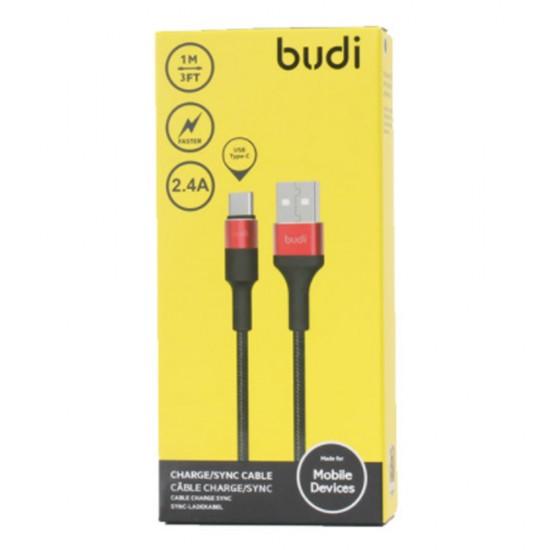 Кабель Budi USB Type-C кабель 1m (M8J162T)