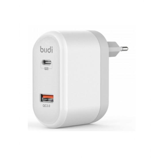 Зарядное устройство Budi (M8J328E) быстрая зарядка 3.0 / PD Type-C White