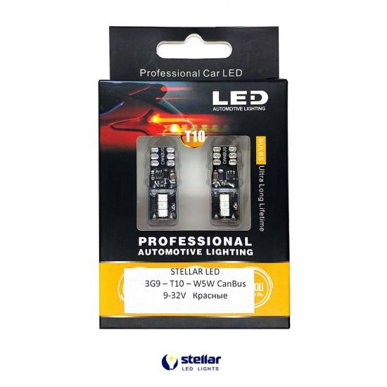 LED автолампа 3G9 STELLAR цоколь T10/W5W CAN BUS красный (1 шт.)