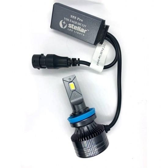LED автолампы S55 STELLAR H11 светодиодные с обманкой CAN BUS 55W (комплект 2 шт.)