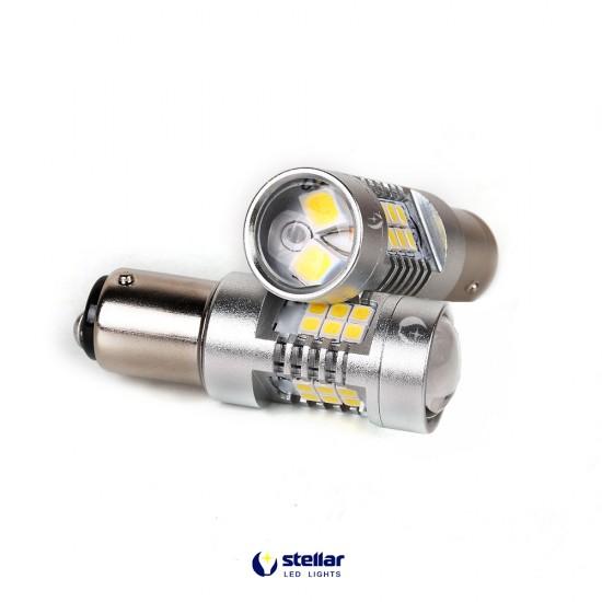 LED автолампа 4G21 STELLAR цоколь BAY15D/1157 CAN BUS белый (1 шт.)
