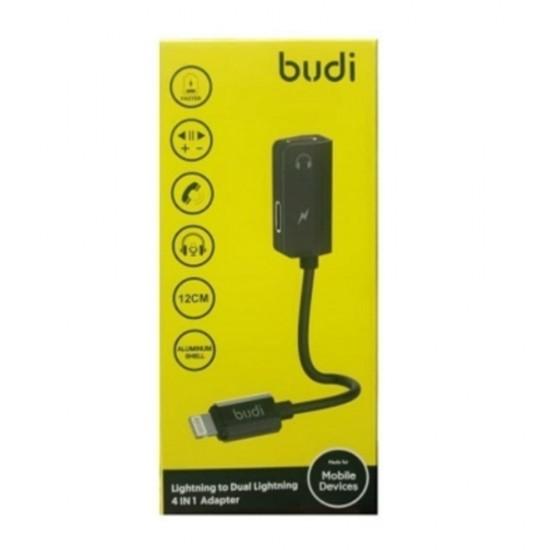 Переходник адаптер Budi для наушников совместим с Lightning 3.5 mm (M8J139LL)