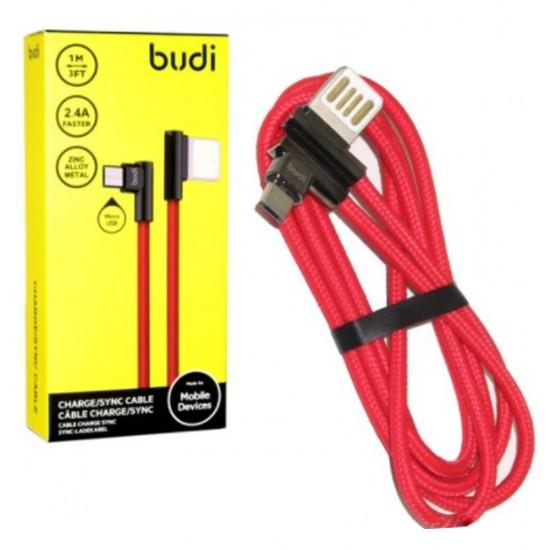 Кабель Budi в оплете Двухсторонний USB-MicroUSB(M8J199M)