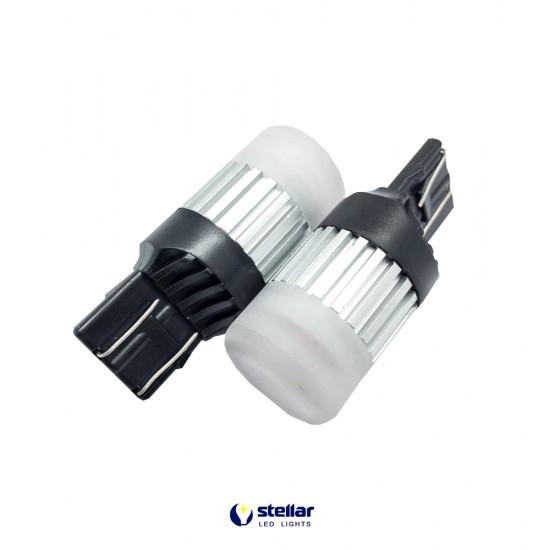 LED автолампа D60 STELLAR цоколь W21W/5W/7443 CAN BUS белый (1 шт.)