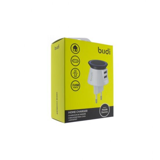 Сетевое зарядное устройство Budi M8J305Е 2.4A 2USB White