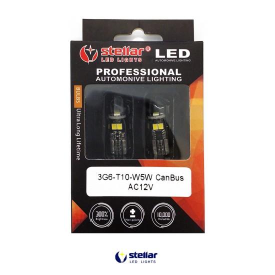 LED автолампа 3G6 STELLAR цоколь T10/W5W CAN BUS белый (1 шт.)