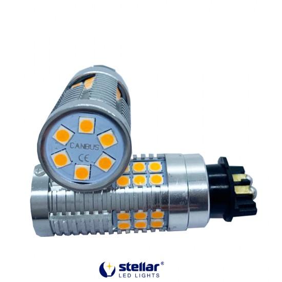 LED автолампа 4G24 STELLAR цоколь PW24W Can Bus Amber желтый (1 шт.)