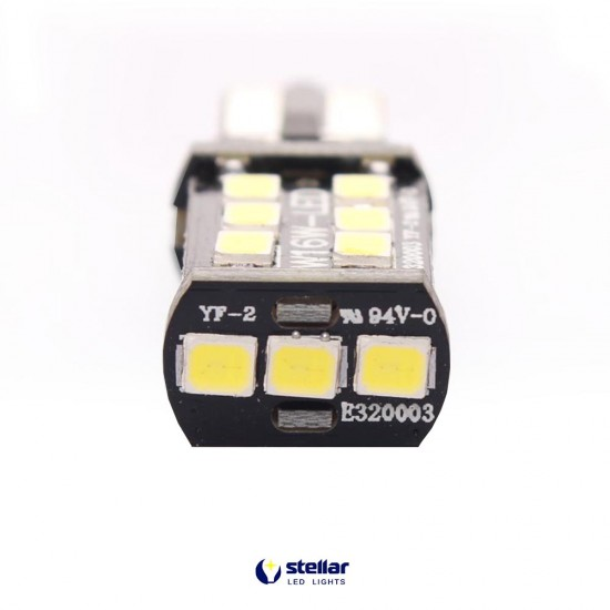 LED автолампа 3G15A STELLAR цоколь T15/W16W CAN BUS белый (1 шт.)