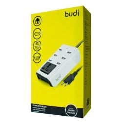 Сетевое зарядное устройство BUDI Home charger (M8J302E) 6USB/24W + 1.8m cable  White