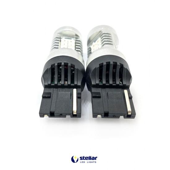 LED автолампа 4G21 STELLAR цоколь W21W/7440 красный (1 шт.)