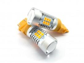 LED автолампа 4G21 STELLAR цоколь P27/7W/3157 Amber, желтый (1 шт.)