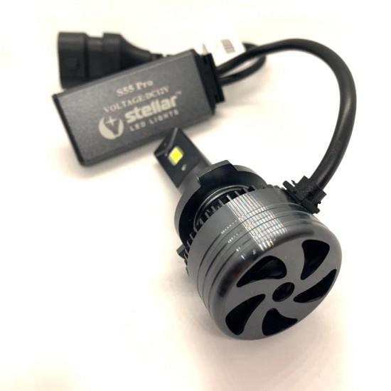 LED автолампы S55 STELLAR HB4 (9006) светодиодные с обманкой CAN BUS 55W (комплект 2 шт.)