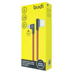 Кабель Budi в оплете Двухсторонний USB-Lightning(M8J199L)