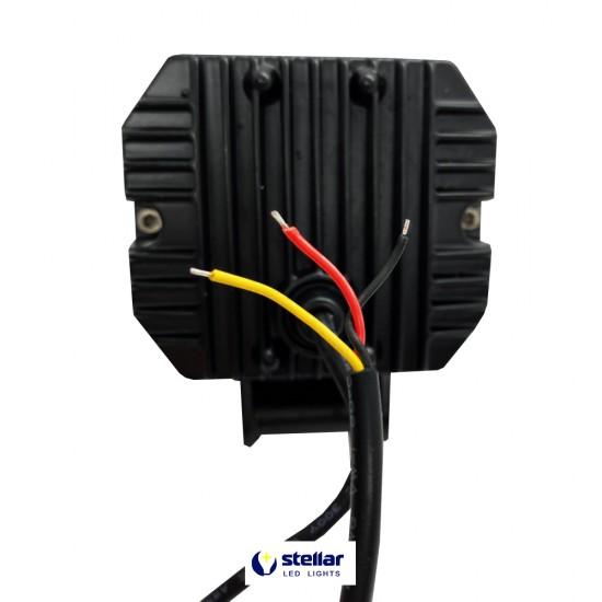 Универсальная дополнительная противотуманная LED фара 20S + ДХО (1 шт.)