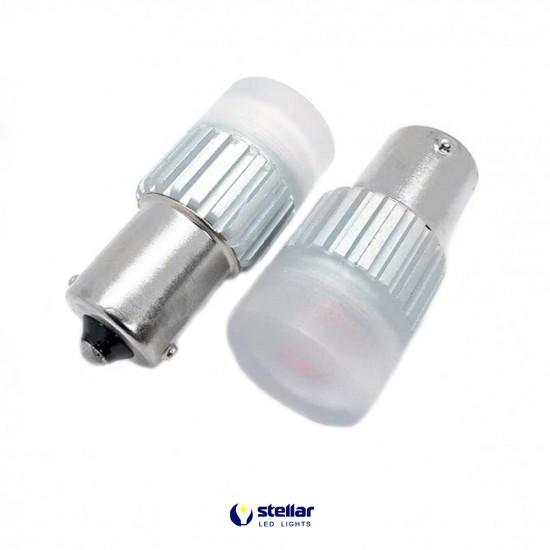 LED автолампа D60 STELLAR цоколь P21W/1156 CAN BUS красный (1 шт.)