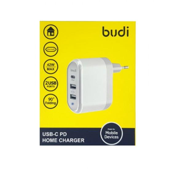 Зарядное устройство Budi (M8J315QE) быстрая зарядка 3.0 + 3USB