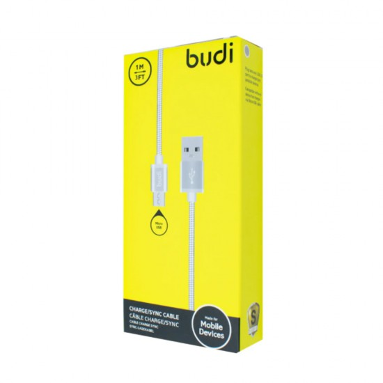 USB кабель Budi Metal Micro USB 1м (M8J172M)
