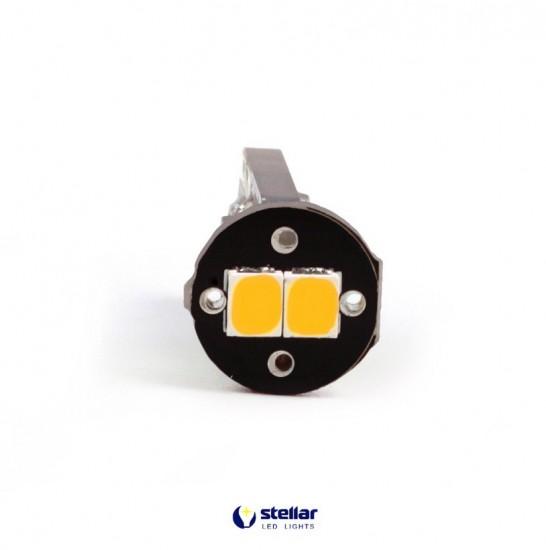 LED автолампа 3G6 STELLAR цоколь T10/W5W CAN BUS желтый (1 шт.)