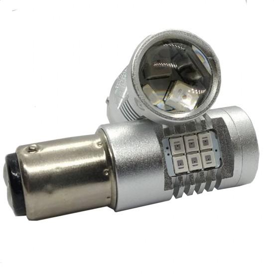 LED автолампа 4G21 STELLAR цоколь P21W/BA15S/1156 красный (1 шт.)